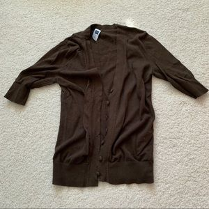 Gap cropped sleeve button down cardigan size small